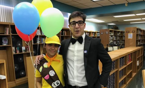Gevorg Mnatsakanyan and Shayna Garcia both go as Russel and Carl Fredricksen, an iconic duo from Up.