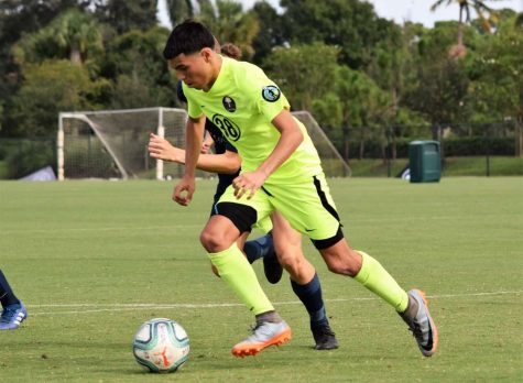 Dario Gomez plays for Palm Beach United, a soccer club based in South Florida.