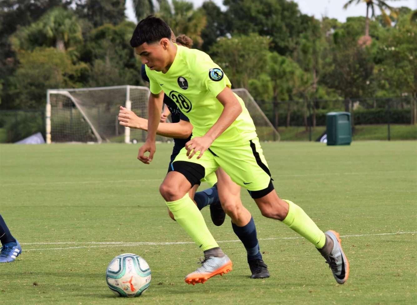 Dario Gomez plays for Palm Beach United, a soccer club based in South Florida.