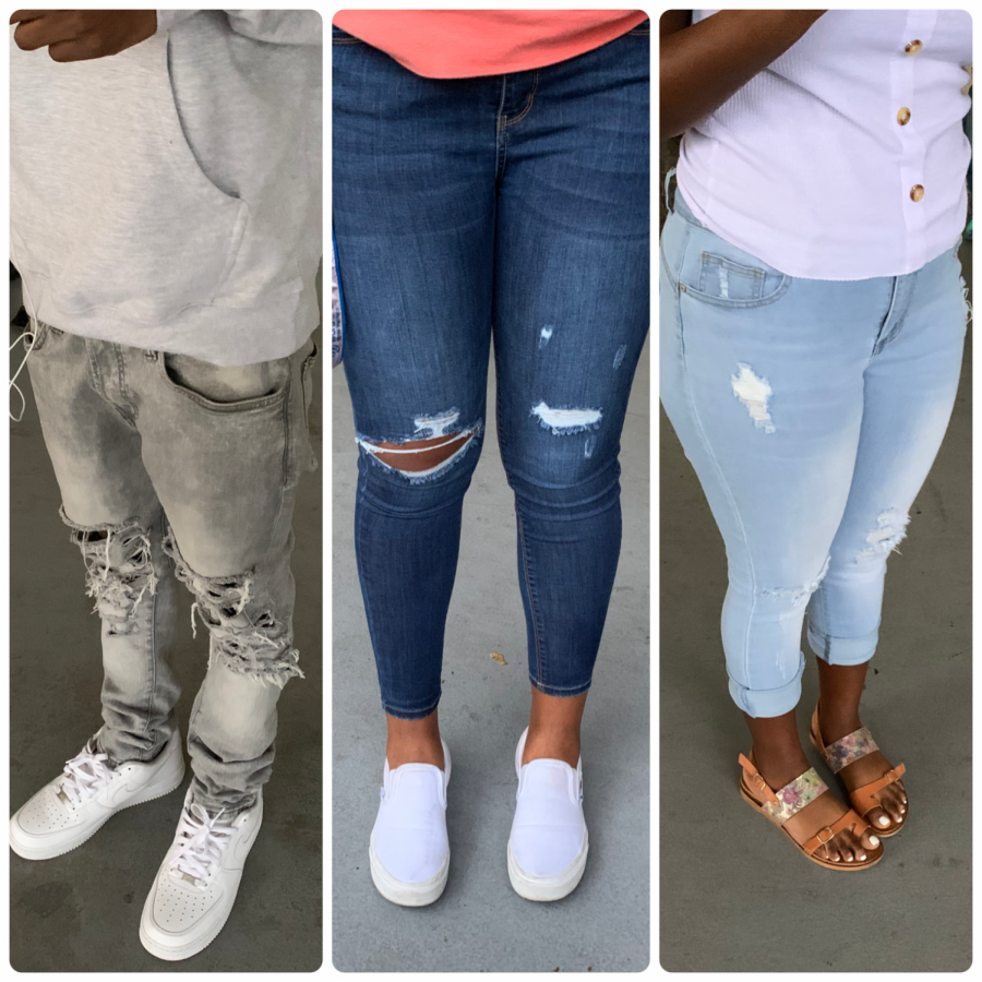 Ripped jeans began in the 1980s, but in recent decades have become a main stream part of fashion.