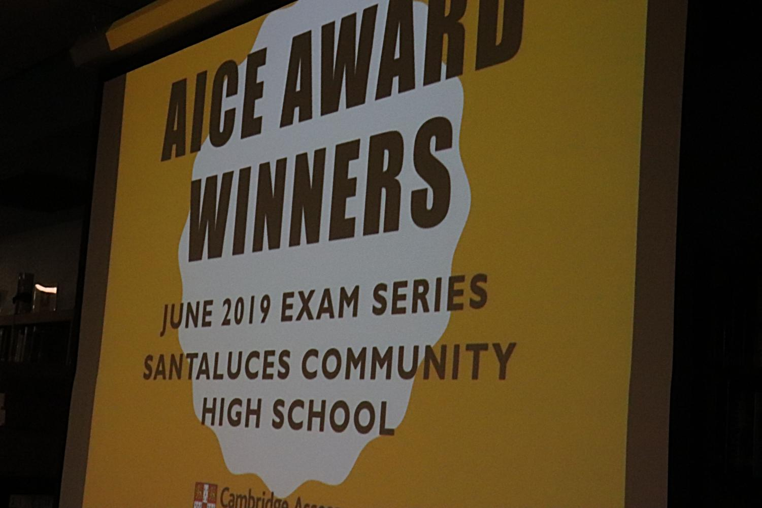The AICE Award winners were announced at the ceremony.