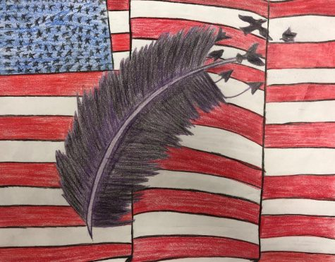 Chief Wins District Art Contest