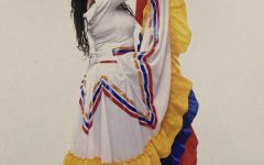Diana celebrating her Colombian heritage during her senior photoshoot.