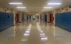 An empty 8000 hallway as students are at home during the pandemic