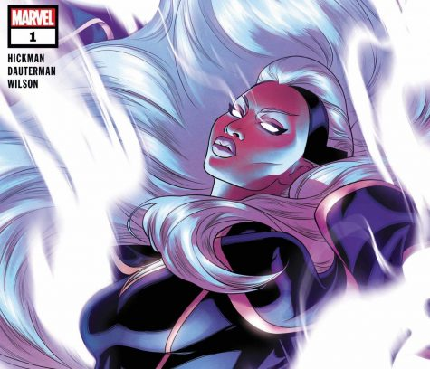 Giant-Size X-Men: Storm #1 Cover by Russell Dauterman and Matthew Wilson is the introduction of a superhero who can control weather.