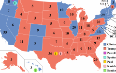 This was the Electoral College map of the 2016 Presidential election. This also shows the number of electoral votes each state has.