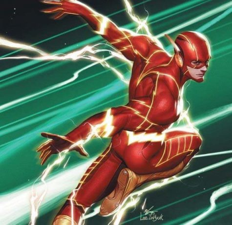 The Flash #763 variant cover art by  Inhyuk Lee.