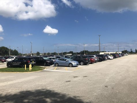 Packed Parking Lot As The Day Comes To A Close