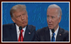 President Trump and Former Vice President Biden at the final Presidential debate.