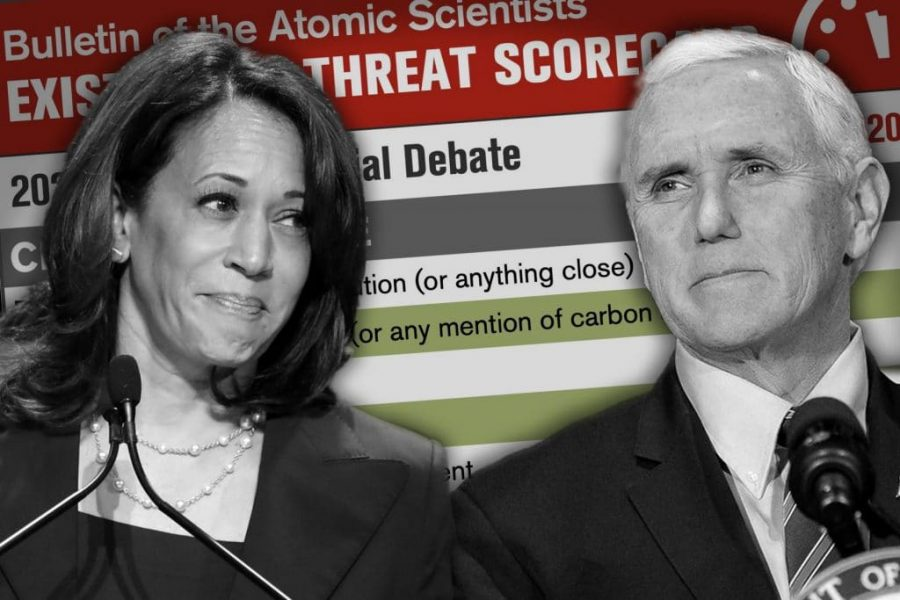 Photo of Kamala Harris and Mike Pence at the Vice Presidential debate