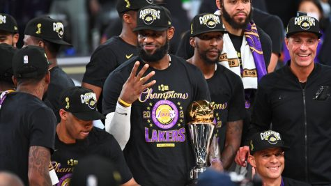 The Lakers win their 17th title, tying the franchise record in the NBA.