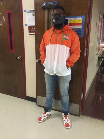 Mr. Charles with the drip for unity day.