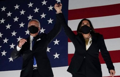 The projected winners of the 2020 US Election, President-Elect Joe Biden and Vice President-Elect Kamala Harris.