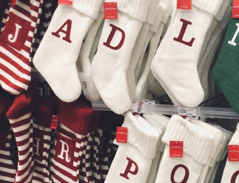 Department stores are displaying their holiday merchandise extra early this year