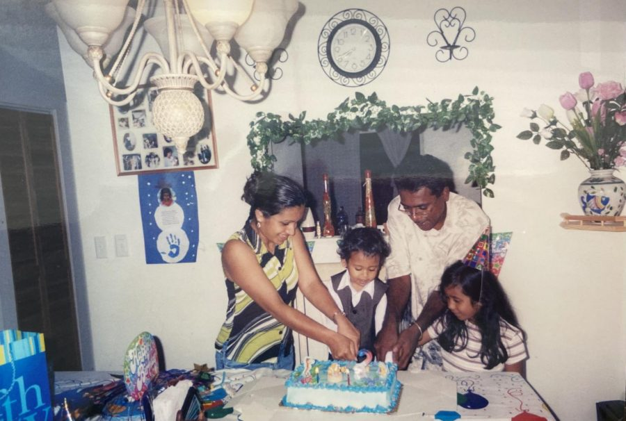 My family and I for my second birthday, a great photo that captured us all.