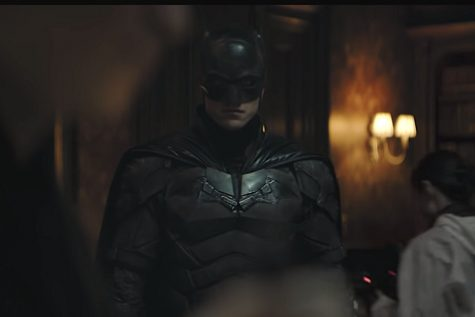 "Robert Pattinson plays Batman in ""The Batman"" releasing March 4, 2022. This trailer screenshot is taken by Vox."