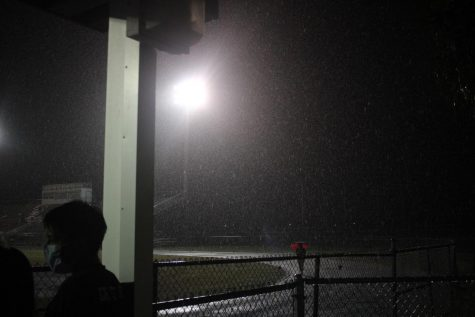 Sudden downpour on Varsity Soccer Chiefs