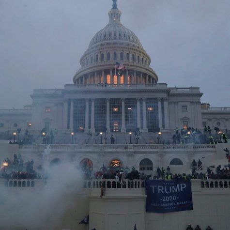 What the Capitol building looked like after it was attacked.