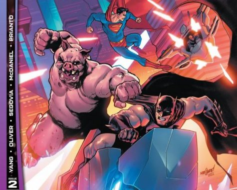 Future State: Batman/Superman #2 features the two heroes battling the Magistrate, by David Marquez and Alejandro Sanchez.