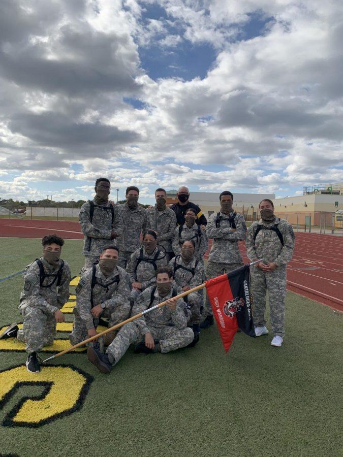 Santaluces Raider Team competing at Jupiter High School.