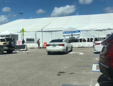 Palm Beach County COVID-19 Vaccination Site at the South Florida Fairgrounds.