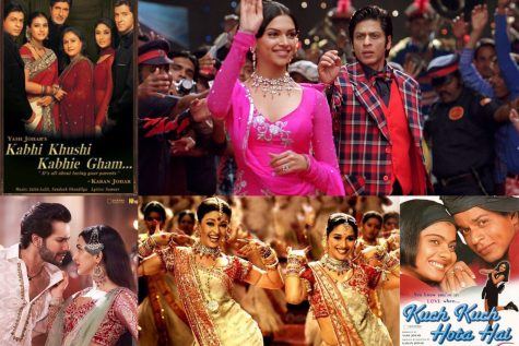 Iconic Bollywood movies and music videos.