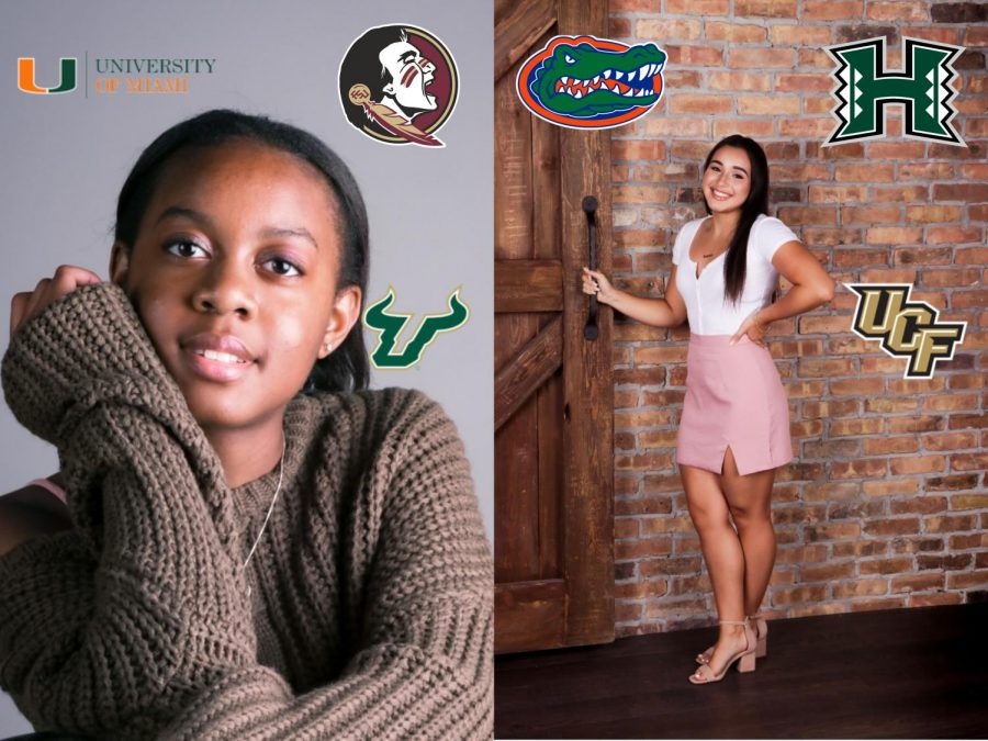 Seniors+Ashlee+Williams+%28Left%29+and+Lorena+Maldonado+%28Right%29+have+been+accepted+to+the+top+colleges+in+Florida+earning+many+scholarships.