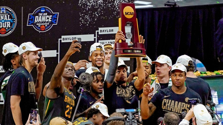The+Baylor+Bears+win+their+first+ever+NCAA+men%27s+basketball+championship%2C+putting+a+stop+to+Gonzaga%27s+perfect+season.
