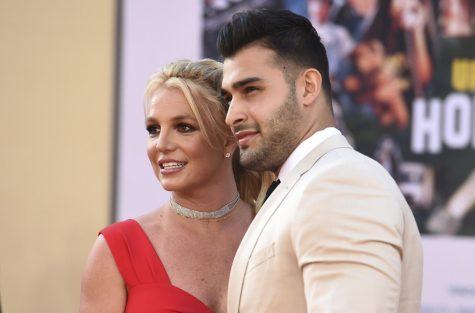Britney Spears and her fiancé, Sam Asghari.