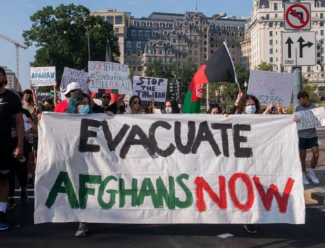 Protests have erupted showing support to the Afghan people following the Talibans August takeover.