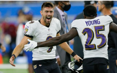 Justin Tucker after his game-winning field goal.