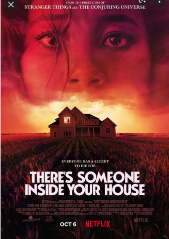 The official cover poster for Theres Someone Inside Your House, out October 6, only on Netflix.