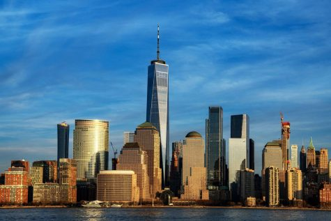 One of the new World Trade Center towers  rebuilt after the attack.