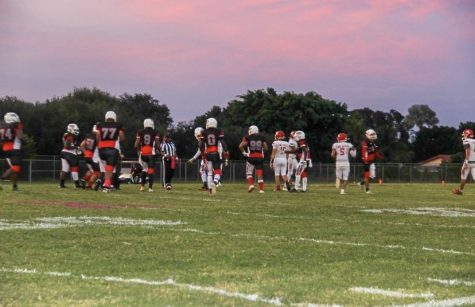 The Chiefs getting ready to play against Forest Hill.