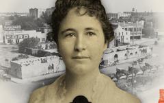The honorable Adina Emilia De Zavala lived from 1861 to 1955.