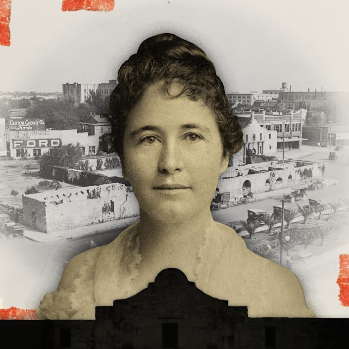 The+honorable+Adina+Emilia+De+Zavala+lived+from+1861+to+1955.